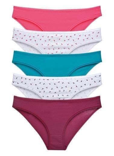 Sensu Kadın Basic Külot Karışık Renkler 5'Li Paket Kts1048 Renkli